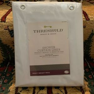 Threshold heavy weight shower curtain liner